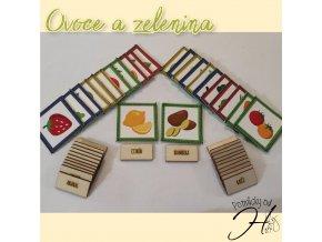 Ovoce a zelenina + dřevěné kartičky